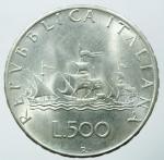 reverse: Repubblica Italiana.500 lire 1966 AG.SPL.§