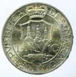 reverse: San Marino. Antica Monetazione. 10 Lire 1937. qFDC.
