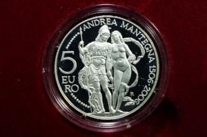 obverse: San Marino. 5 euro 2006. Ag. Andrea Mantegna. Proof.