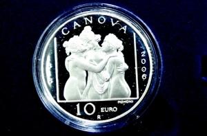obverse: San Marino. 10 euro 2008. Ag. Antonio Canova. Proof.