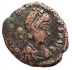 obverse: Varie - Teodosio II 402-450. Ae da catalogare. gr 1,99. mm 15,4.