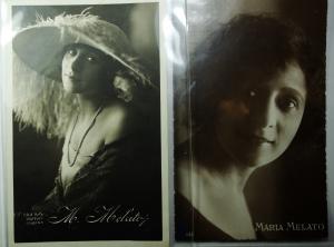 obverse: Cartoline.Maria Melato lotto di 2 ,una datata e scritta 20 giugno 1922 ,ottima conservazione.gf