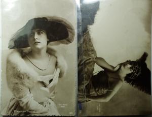 obverse: Cartoline.Francesca Bertini.1922\23.Lotto di 2 Cartoline circolate, ottima conservazione.gf