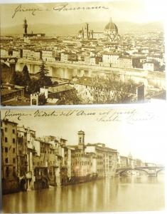 obverse: Cartoline.Firenze.Lotto di 2 cartoline non circolate primi anni del XX secolo, ottime conservazione non circolate.gf