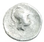 reverse: Mondo Greco. Pisidia. Selge. ca 350-300 a.C. Obolo. Ag.D\ Gorgone frontale. R/ Testa elmata di Atena. SNG BnF 1929; SNG von Aulock 5267. Peso 0,72 gr. Diametro 13,00 mm.SPL. w