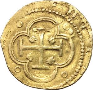 Spain. Philip II (1556-1598).  2 escudos, Toledo mint.   Fr. 170. AU. g. 6.66     VF.