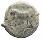 D/ Mondo Greco - Apulia. Arpi. 275-250 a.C.Ae. D/ Toro andante verso destra. R/ Cavallo rampante verso destra. SNG ANS 640-645. Peso 9,03 gr. Diametro 21,74 mm.BB/BB++. Bell'esemplare.