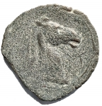 R/ Mondo Greco - Bruttium. Occupazione Cartaginese. ca 215-205 a.C. Ae. D/ Testa di Tanit a sinistra. R/ Testa di cavallo a destra, lettera punica. HN Italy 2022.Peso gr. 9,91. Diametro mm. 26. qBB.