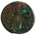 R/ Mondo Greco. Bruttium. I Brettii. ca III sec. a.C. Bronzo. Doppia ridotta. D/ Testa di Zeus verso sinistra. R/ Atena con scudo verso destra, davanti una lira. ANS 373. Peso 13,42 gr. Diametro 26,00 mm. BB.