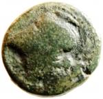 D/ Mondo Greco. Bruttium. Lokri Epizephrioi. ca 300-268 a.C. 10 D/ Testa di Atena a sinistra. R\ LOKPON Fulmine alato. SNG ANS 543. Peso 4,70 gr. Diametro 18,78 mm. BB\BB+. R. w