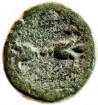 R/ Mondo Greco. Bruttium. Lokri Epizephrioi. ca 300-268 a.C. 10 D/ Testa di Atena a sinistra. R\ LOKPON Fulmine alato. SNG ANS 543. Peso 4,70 gr. Diametro 18,78 mm. BB\BB+. R. w