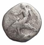 D/ Mondo Greco - Calabria. Tarentum. ca 460-443 a.C.Nomos. Ag.