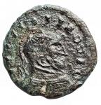 D/ Barbari - IV° Sec. d.C.Imitativa di Follis. Ae. Peso gr. 2,26. Diametro mm 17,2.BB+.Patina verde intenso.