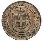 R/ Casa Savoia - Regno di Italia. Re Eletto. Vittorio Emanuele II. 1859-1861.2 centesimi 1859. Cu. Pag. 446. Mont. 124.SPL+.
