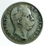 D/ Casa Savoia. Umberto I. 2 Lire 1882. Roma. Ag. Peso 10,00 gr. Diametro 27,50 mm. BB.