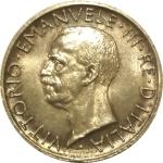 D/ Casa Savoia. Vittorio Emanuele III. 5 Lire 1928. Due rosette sul contorno. FDC-qFDC. RR. rf