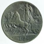 D/ Casa Savoia. Vittorio Emanuele III. 2 lire 1908. Ag. Gig 96. BB\MB.