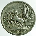 D/ Casa Savoia. Vittorio Emanuele III. 2 Lire 1914. Quadriga Briosa. Pagani 737. Peso 10,02. BB.