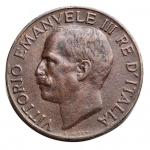 D/ Casa Savoia - Vittorio Emanuele III. 1900-1943.5 centesimi 1937.AE.Pag. 916. BB++/qSPL. R.