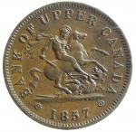 D/ Monete Estere. Canada. Upper Canada Copper Penny Bank. Penny 1857. AE. KM-Tn2. SPL. y