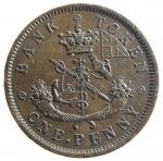 R/ Monete Estere. Canada. Upper Canada Copper Penny Bank. Penny 1857. AE. KM-Tn2. SPL. y