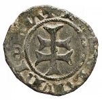 R/ Monete Estere - Ungheria.Maria d'Angio'?Denaro. Peso gr. 0,58.Diametro mm. 13,75.BB++.Patinaverde.