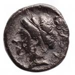 D/ Varie - Mondo Greco. Dracma da catalogare. Ag. R/ Pegaso a sinistra. Peso gr. 2,14. Diametro mm. 14,4. Patina scura.