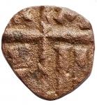 R/ Varie - Italia Meridionale.I Normanni.Follaro ad imitazione di un follis bizantino.AE.D'A-C. 28. MEC XIV, 61-62. Travaini 41. Peso gr. 2,45.BB.RRR.