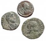 D/ Lotti - Impero Romano. Lotto di 3 esemplari in Ae da identificare.