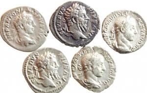 D/ Lotti. Impero Romano. Lotto di 5 denari imperiali da Settimio Severo ad Alessandro Severo. Mediamente qBB. w