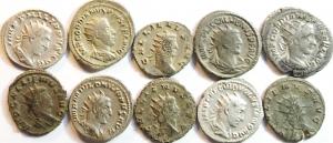 D/ Lotti.I mpero Romano. Lotto di 10 Antoniniani da Gordiano III a Gallieno. Buone Conservazioni, mediamente BB\BB+. w