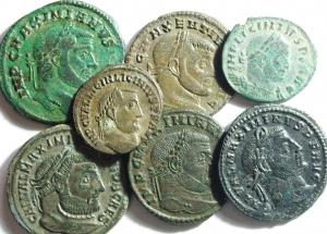 D/ Lotti. Impero Romano. Lotto di 7 monete della Tetrarchia, mediamente BB\BB+.