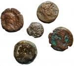 D/ Lotti - Provincia Romana. Egitto. Alessandria. Lotto di 5 esemplari in Ae.
