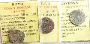 D/ Lotti. Lotto di 3 monete di zecche italiane classificate. Mantova, Ravenna, Roma. Mediamente MB.__