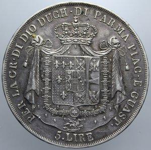 DUCATO DI PARMA MARIA LUIGIA 5 LIRE 1815 NC AG BB+