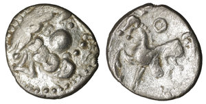 obverse image: Celts. Imitations of Philip II of Macedon (2nd-1st centuries BC). Drachm.