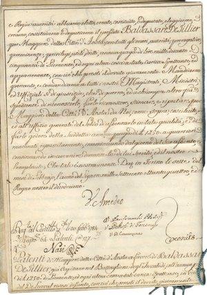 D/ Torino. 7 Febbraio 1784. Pergamena del 1700 con firma Autografa di Vittorio Amedeo III di Savoia Re di Sardegna, di Cipro e di Gerusalemme; decreto Reale, nomina a Maggiore di Baldassare De Fillier della città di Aosta. Vittorio Amedeo III di Savoia (Torino, 26 giugno 1726 – Moncalieri, 16 ottobre 1796) , duca di Savoia, Piemonte e Aosta e re di Sardegna dal 1773 al 1796. Figlio di Carlo Emanuele III e di Polissena d'Assia-Rotenburg, sposò nel 1750 Maria Antonietta di Borbone-Spagna (1729-1785), la figlia più giovane di Filippo V di Spagna e Elisabetta Farnese. Salì al trono nel 1773.