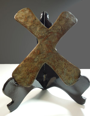 D/ Congo. Katanga region. 1850/1900 AD. Cross of Katanga used as currency. Asymmetrical X shape with a ridge in the centre. Bronze 700 gr. - 20x14 cm. Rare