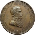 obverse:  Napoleone I (1799-1804), Primo Console Medaglia A. IX (1801) per la pace di Luneville tra Francia e Germania