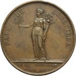 reverse:  Napoleone I (1799-1804), Primo Console Medaglia A. IX (1801) per la pace di Luneville tra Francia e Germania
