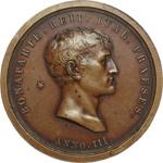 obverse:  Napoleone I (1804-1815) Medaglia 1800 (A.III), come presidente della Repubblica Cisalpina.