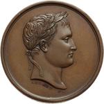 obverse:  Napoleone I (1804-1815) Medaglia s.d., veduta della Sala d Apollo al Museo del Louvre.