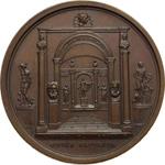 reverse:  Napoleone I (1804-1815) Medaglia s.d., veduta della Sala d Apollo al Museo del Louvre.