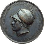 obverse:  Napoleone I (1804-1815) Medaglia 1805 per la presa di Vienna.