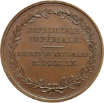reverse:  Napoleone I (1805-1815) Medaglia 1809 perla \