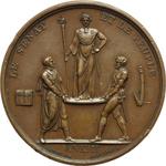 reverse:  Napoleone I (1804-1815) Medaglia A. XIII (1804).