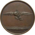 obverse:  Napoleone I (1804-1815) Medaglia 1815 per il ritorno dall Isola d Elba e la marcia su Parigi.