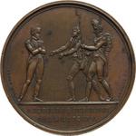 reverse:  Napoleone I (1804-1815) Medaglia 1815 per il ritorno dall Isola d Elba e la marcia su Parigi.