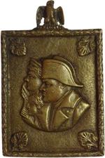 obverse:  Napoleone I (1804-1815) Plachetta rettangolare. Busti affiancati, a sinistra, di Napoleone I, Maria Luisa d Asburgo-Lorena e, tra loro, del piccolo Napoleone II. Dimensioni 59X73.5.