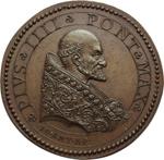 obverse:     Pio IV (1559-1565) Medaglia XVIII sec. da conii originali di Giovanni Antonio de  Rossi (D/) e Girolamo Faccioli (R/)